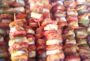 Vegetable shashlik recipe