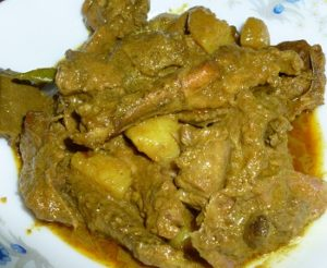 Duck meat bhuna