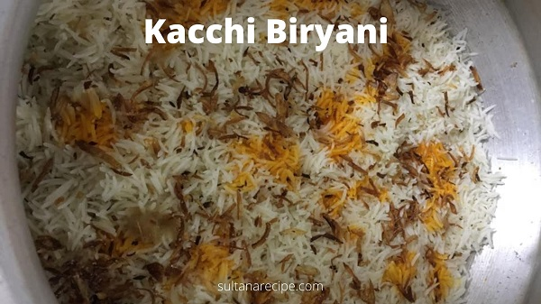 Mutton kacchi biryani recipe