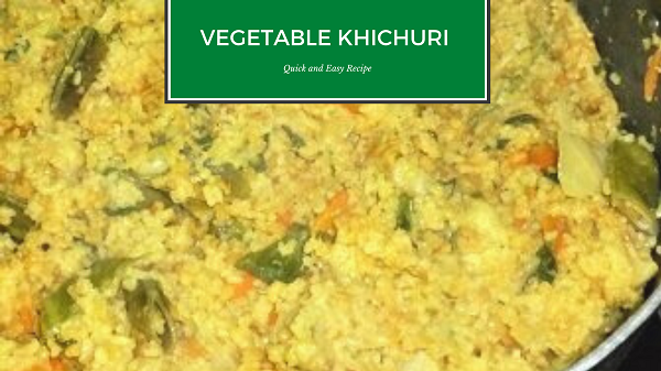 Vegetable Khichuri recipe