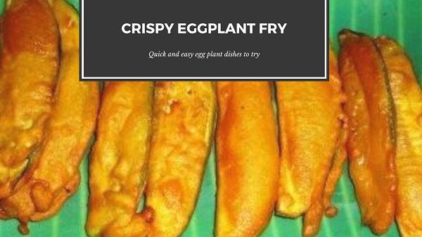 Crispy Eggplant fry