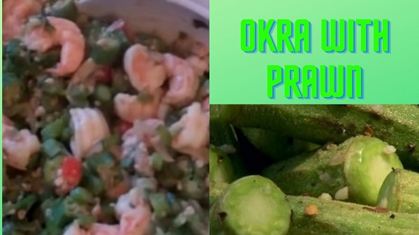 Okra with Prawn
