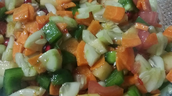 how to make vegetable salad recipe