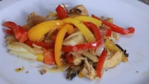 Chicken with bell peppers recipe