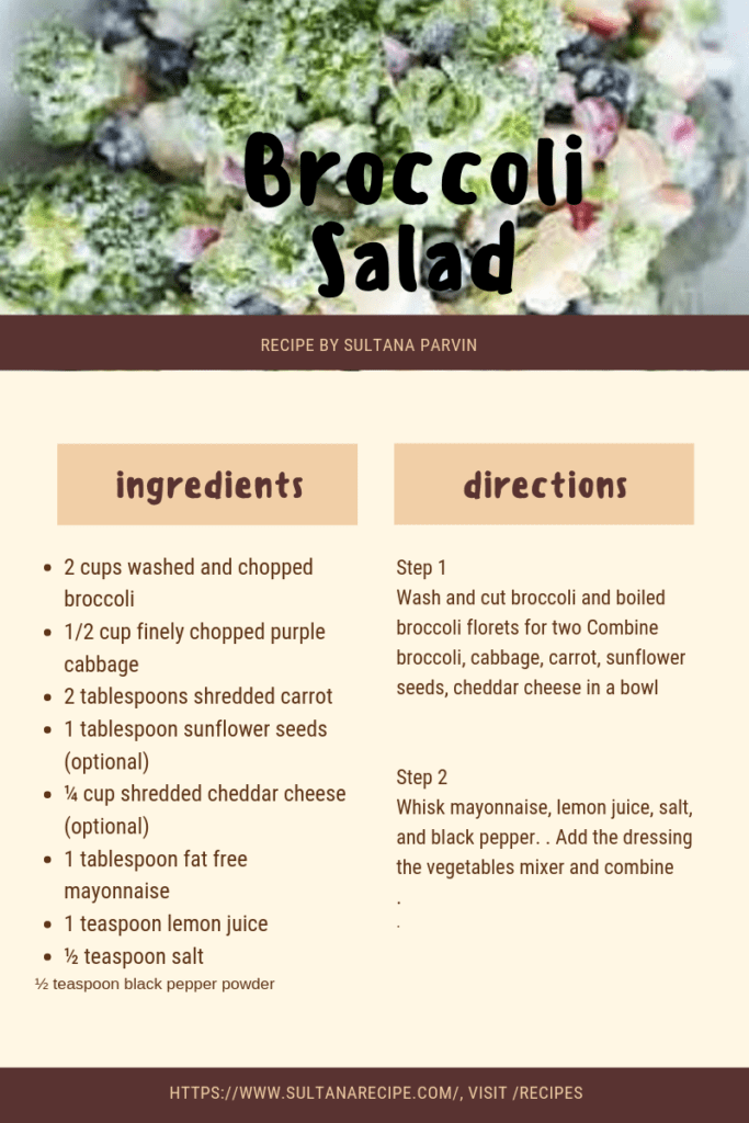 Weight Watcher Broccoli Salad