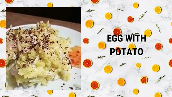 Egg salad with potato