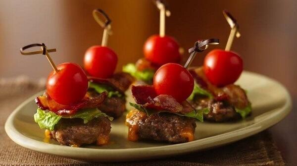 Air Fryer Bacon Burger Bites Recipe
