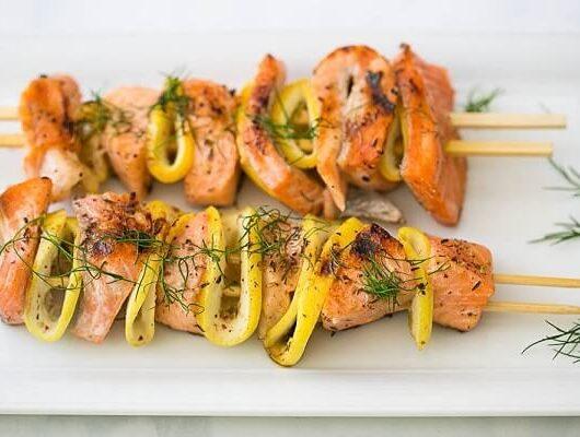 Keto recipes Grilled Salmon Kebab