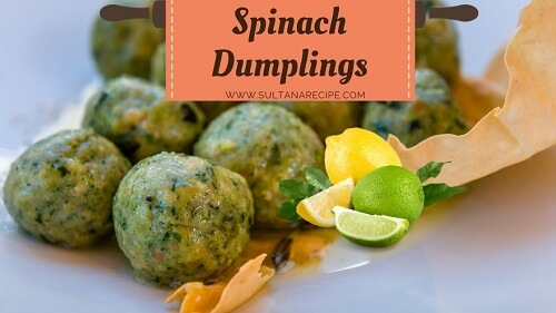 Spinach Dumplings